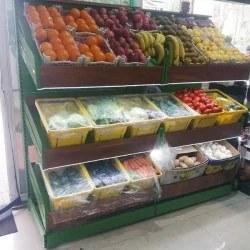 تصویر قفسه میوه سبزیجات فروشگاهی
