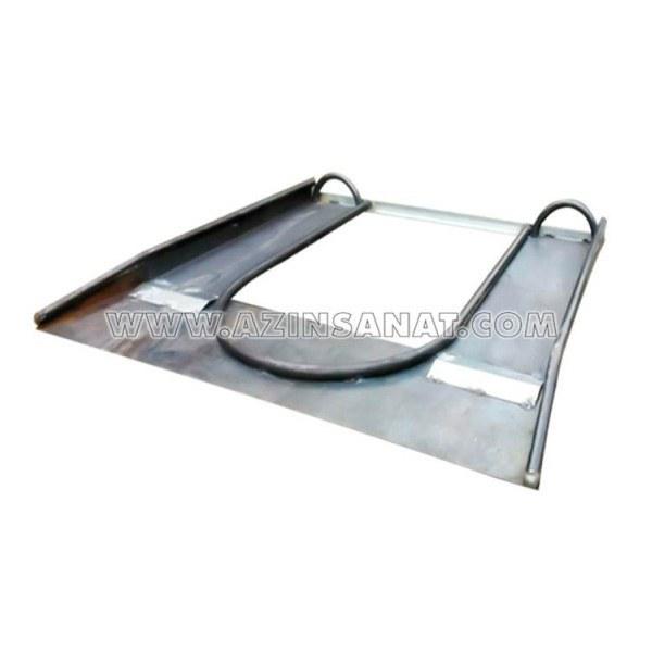 تصویر زیر مخزنی لوله ای زیر مخزنی فلزی ساخته شده از ورق 2 میلیمتر مناسب جهت استقرار مخزن های زباله