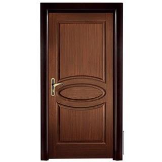 تصویر درب HDF اتاق خام کد ۴۰۳ | درب اتاقی سه قاب بیضی
