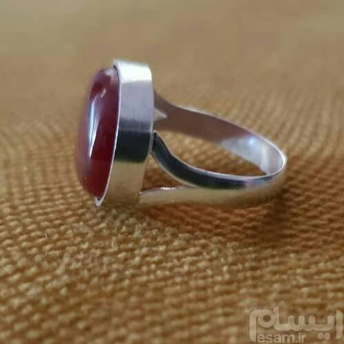 انگشتر دستساز نقره | انگشتر دستساز عقیق سرخ عیار 925 سایز 61