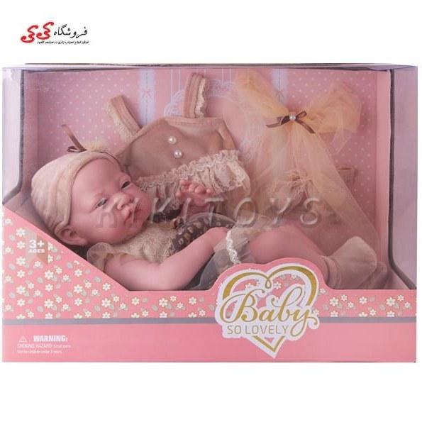 تصویر اسباب بازی عروسک نوزاد با چهره طبیعی متوسط  Baby So LOVELY