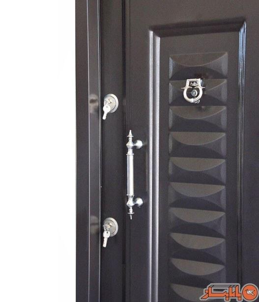 تصویر درب ضد سرقت مدرن گستر پیروزان مدل ونوس کرکره ای رویه فلز