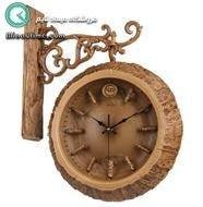 ساعت دیواری دو طرفه طرح چوب الیپس مدل 330 |