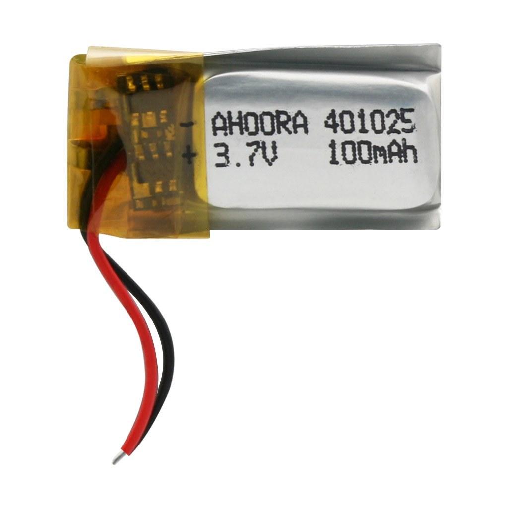 تصویر باتری 3.7 ولت مدل 401025 ظرفیت 100 میلی آمپر ساعت 401025 - 100mAh 3.7V Battery