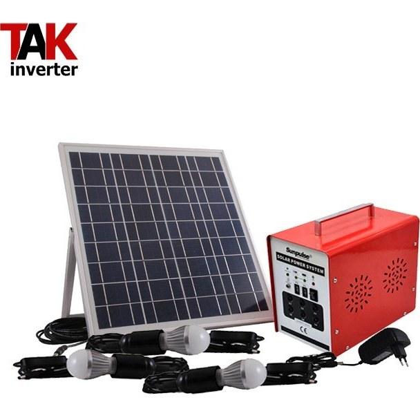 تصویر پکیج برق خورشیدی قابل حمل 20 وات مدل SL2026 بدون باتری pack solar power 20 watt Portable SL2026