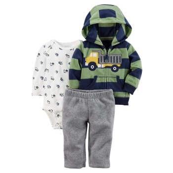 ست 3 تکه لباس نوزادی پسرانه کد 1105  