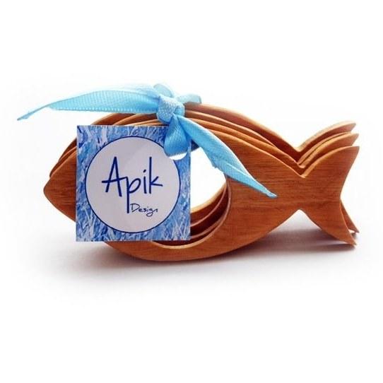 تصویر حلقه دستمال سفرهی ماهی آپیک دیزاین