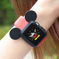 لوازم جانبی ساعت سیلیکونی Mickey Mouse Smart Watch Apple Watch 38mm