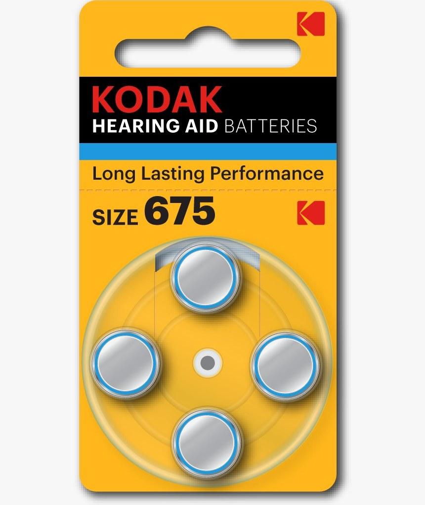 عکس باتری سمعک سایز675 Kodak Battery Kodak Sise675 Hering Aid باتری-سمعک-سایز675-kodak