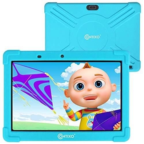 """تبلت یادگیری کودکان Contixo 10 """"K101 Android 9.0 بلوتوث با Looney Tunes دوربین WiFi برای کودکان نوپای کودک کودکان کنترل والدین w / Kid-Proof Case Protective 2GB DDR 16GB Storage (آبی)"""