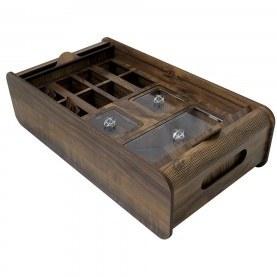تصویر جعبه پذیرایی چوبی طرح ارس