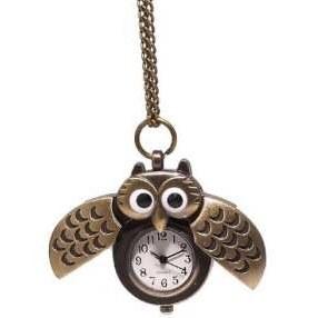 ساعت جیبی زنانه طرح جغد کد 001 |