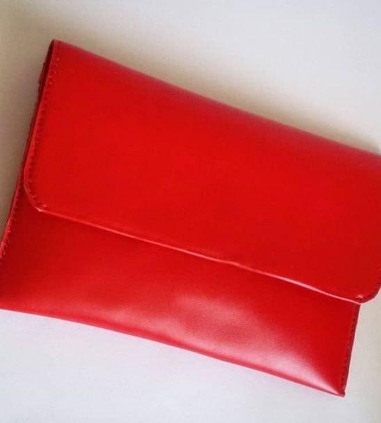 کیف دستی زنانه چرم قرمز