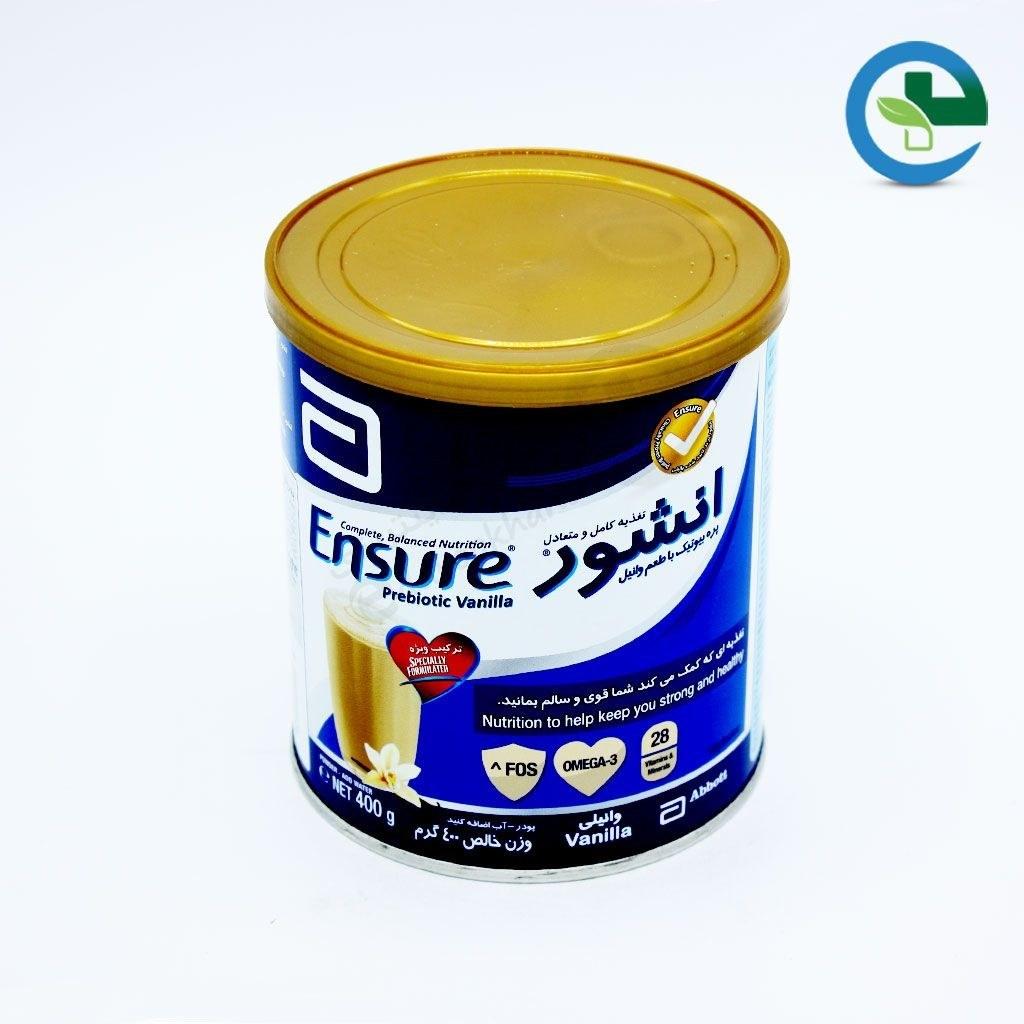 مکمل غذایی انشور ابوت با طعم وانیل ۴۰۰ گرم