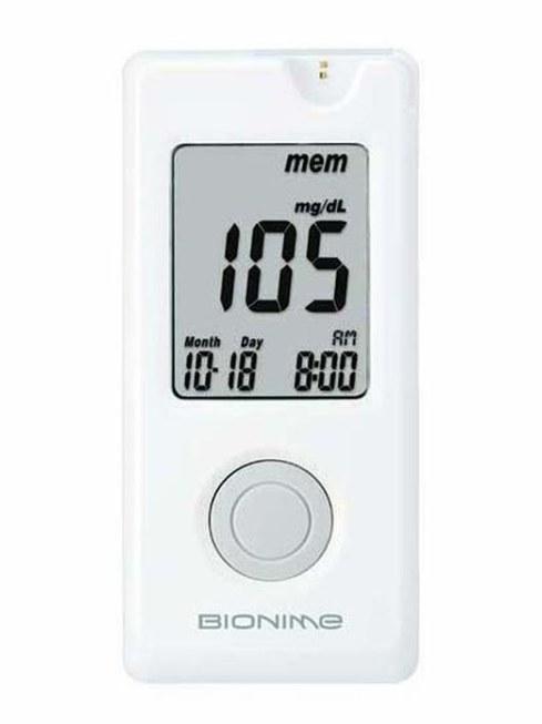 تصویر دستگاه تست قند خون GM 110 بایونیم Bionime Bloods Glucose Monitoring System GM 110