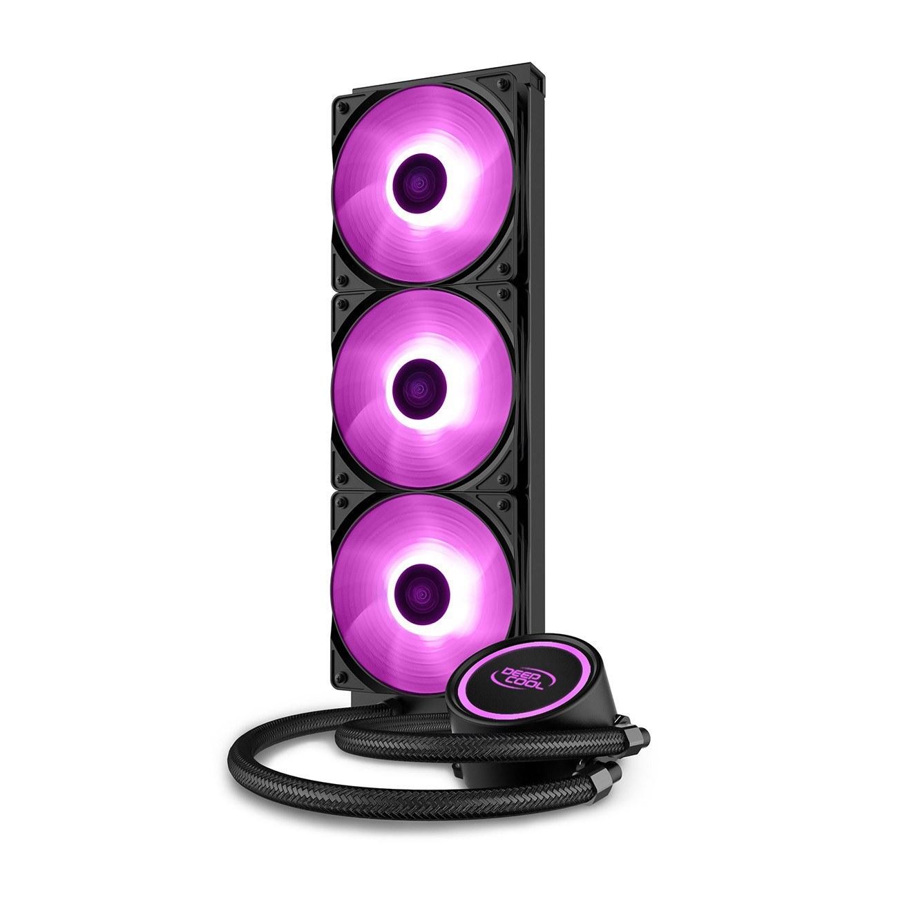 تصویر خنک کننده مایع پردازنده دیپ کول GAMMAXX L360 V2 DeepCool GAMMAXX L360 V2 RGB CPU Liquid Cooler