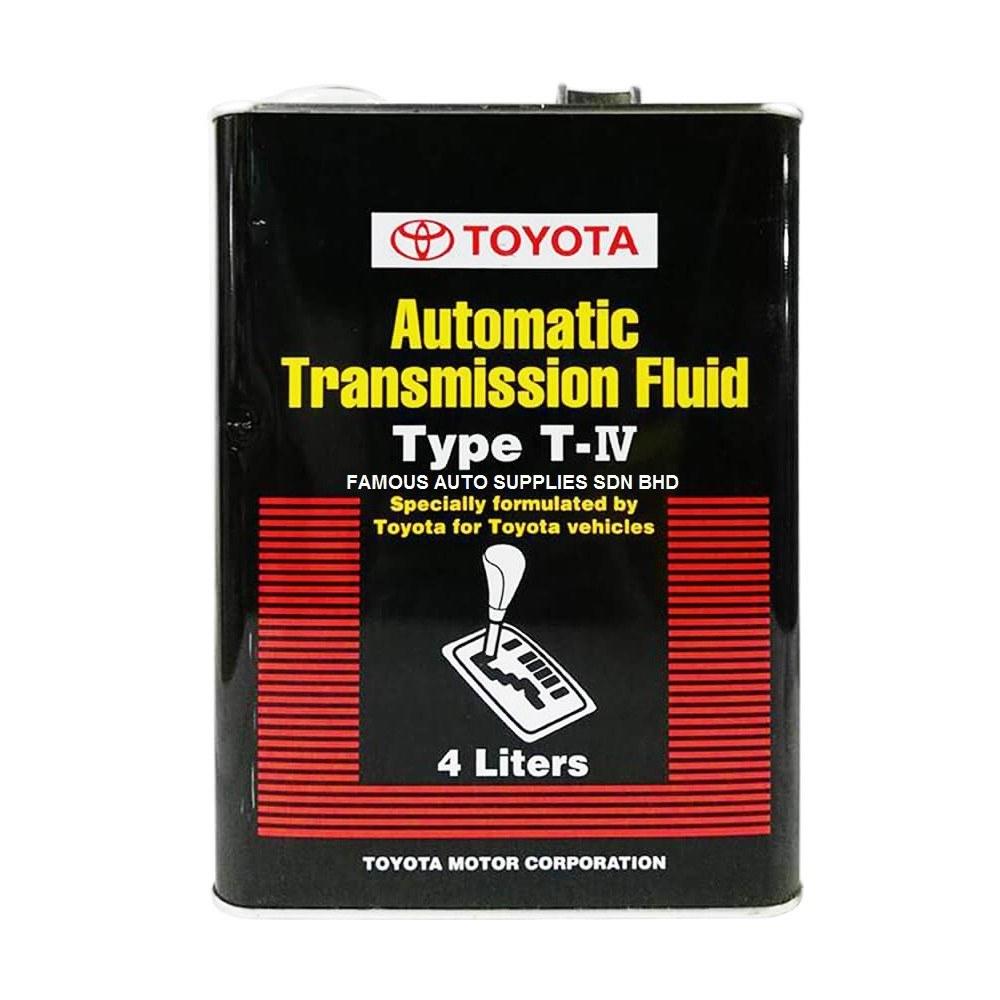 تصویر روغن گیربکس مدل ATF T-IV چهار لیتری تویوتا – Toyota