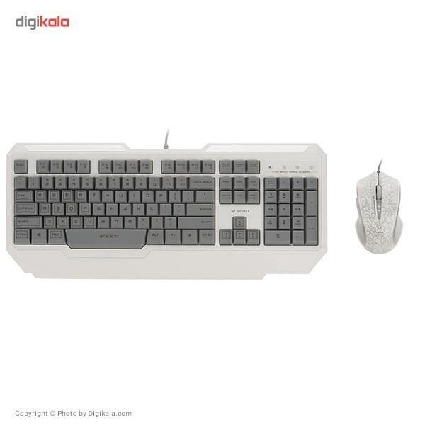img کیبورد و موس رپو V100C Combo Rapoo V100C Combo Gaming Keyboard + Mouse