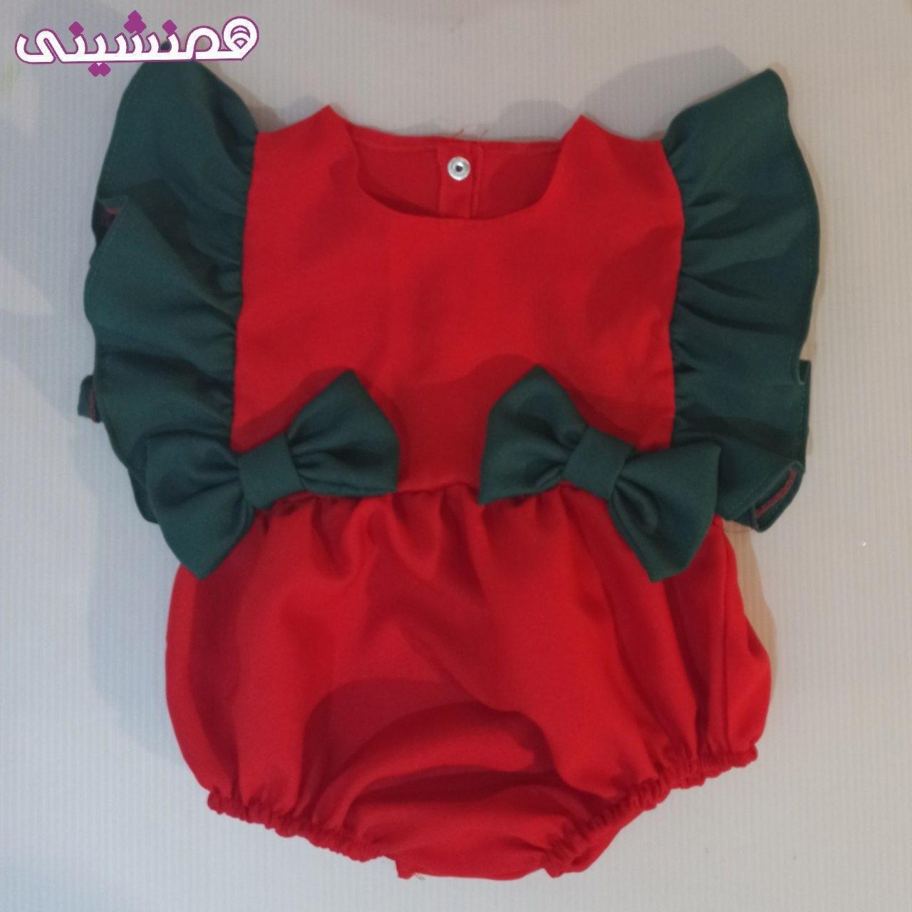 تصویر لباس سرهمی نوزادی طرح جشن شب یلدا