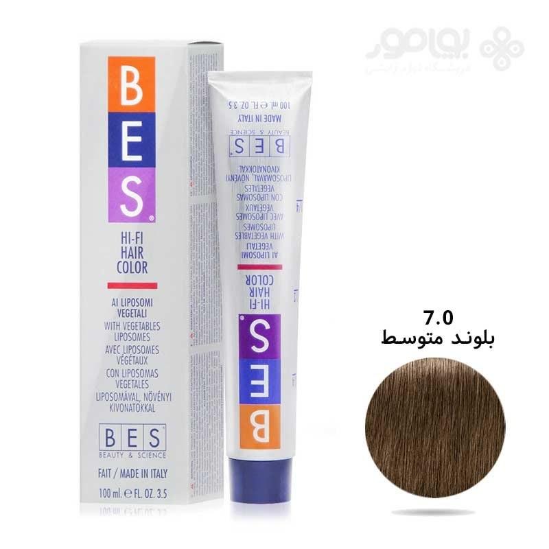 main images رنگ موی بس بلوند متوسط شماره BES 7.0