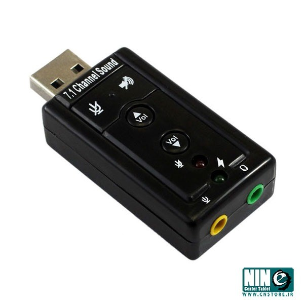 تصویر مبدل - کارت صدا USB اکسترنال ولوم دار External Sound Cards