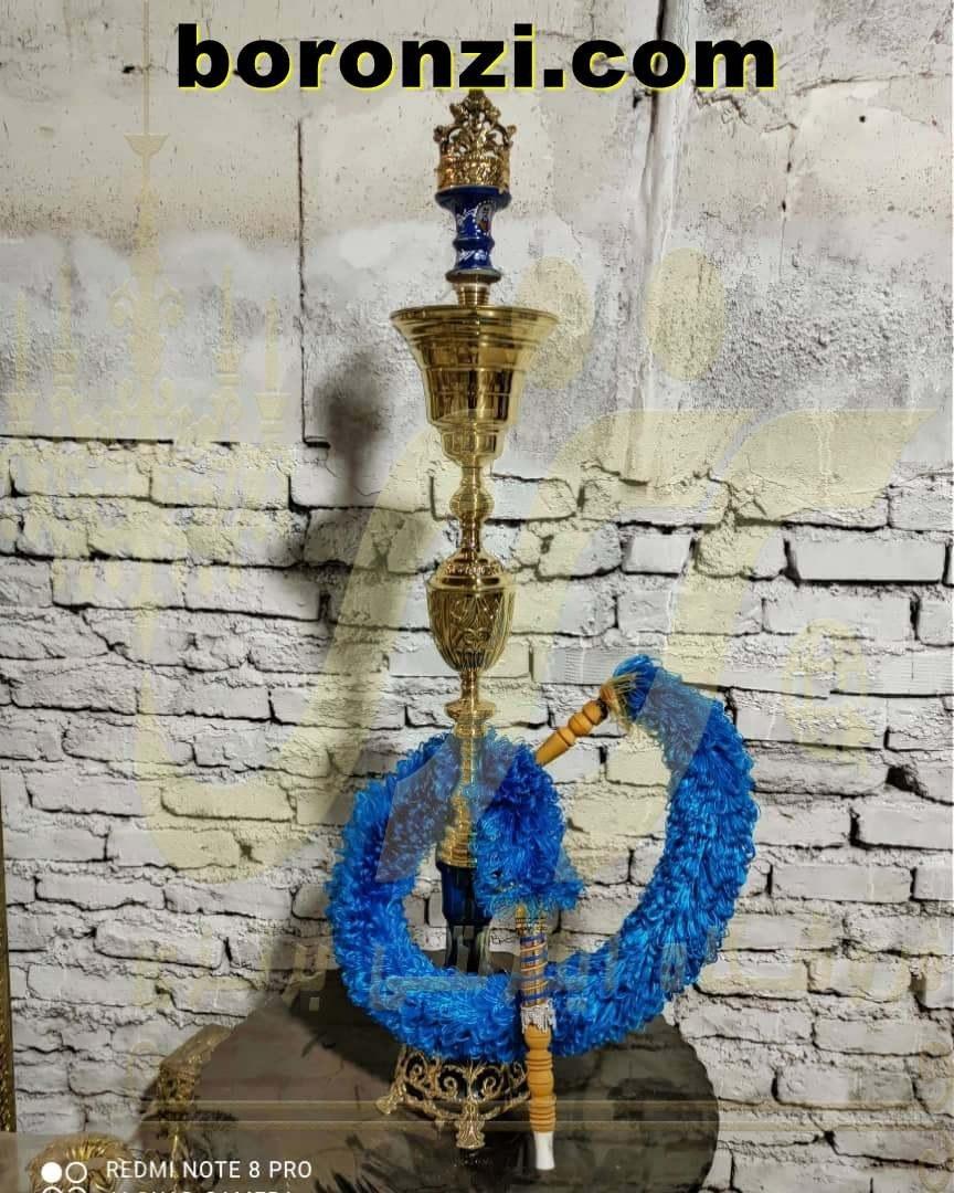تصویر قلیان برنزی سلطنتی طرح 2 بلند