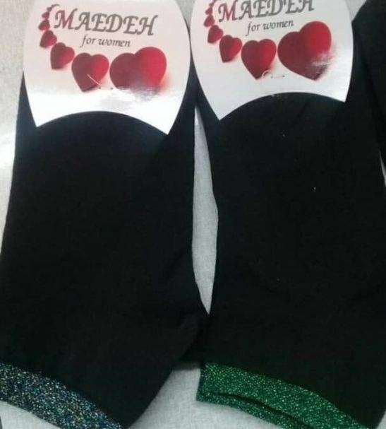 جوراب زنانه لمه بسته ۱۲ عددی