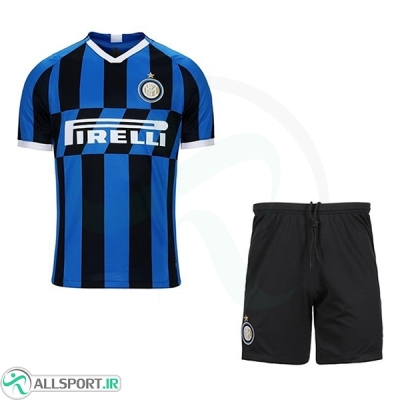 پیراهن شورت اول ایترمیلان Inter Milan 2019-20 Home Soccer Jersey Kit Shirt+Short