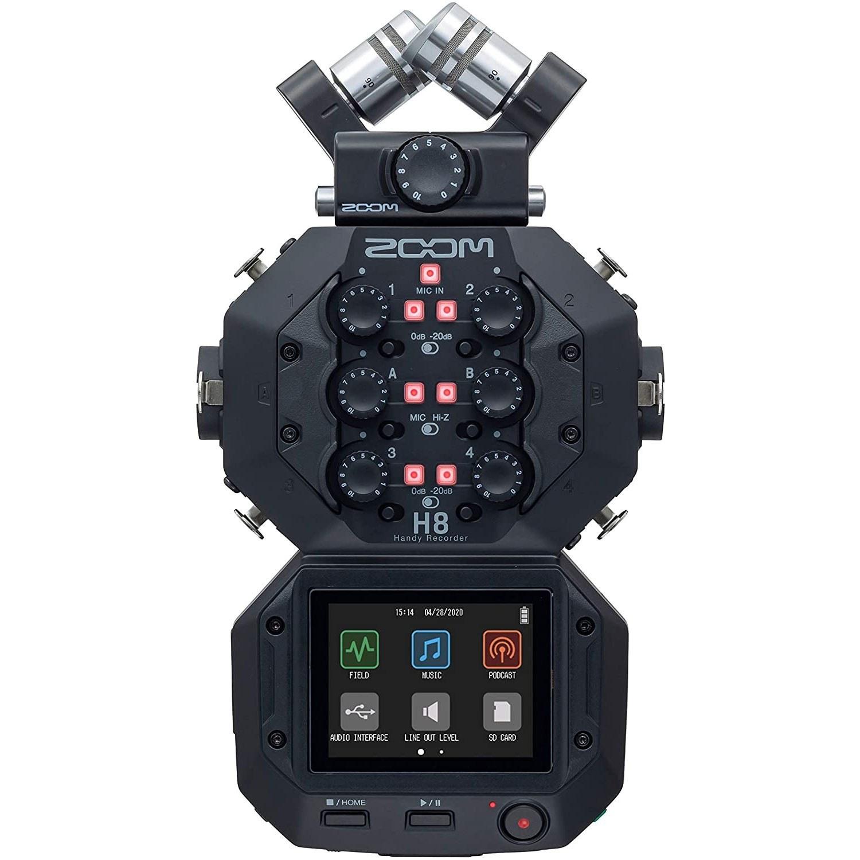 تصویر رکوردر صدا زوم Zoom H8 Portable Handy Recorder ا Zoom H8 8-Input / 12-Track Portable Handy Recorder Zoom H8 8-Input / 12-Track Portable Handy Recorder