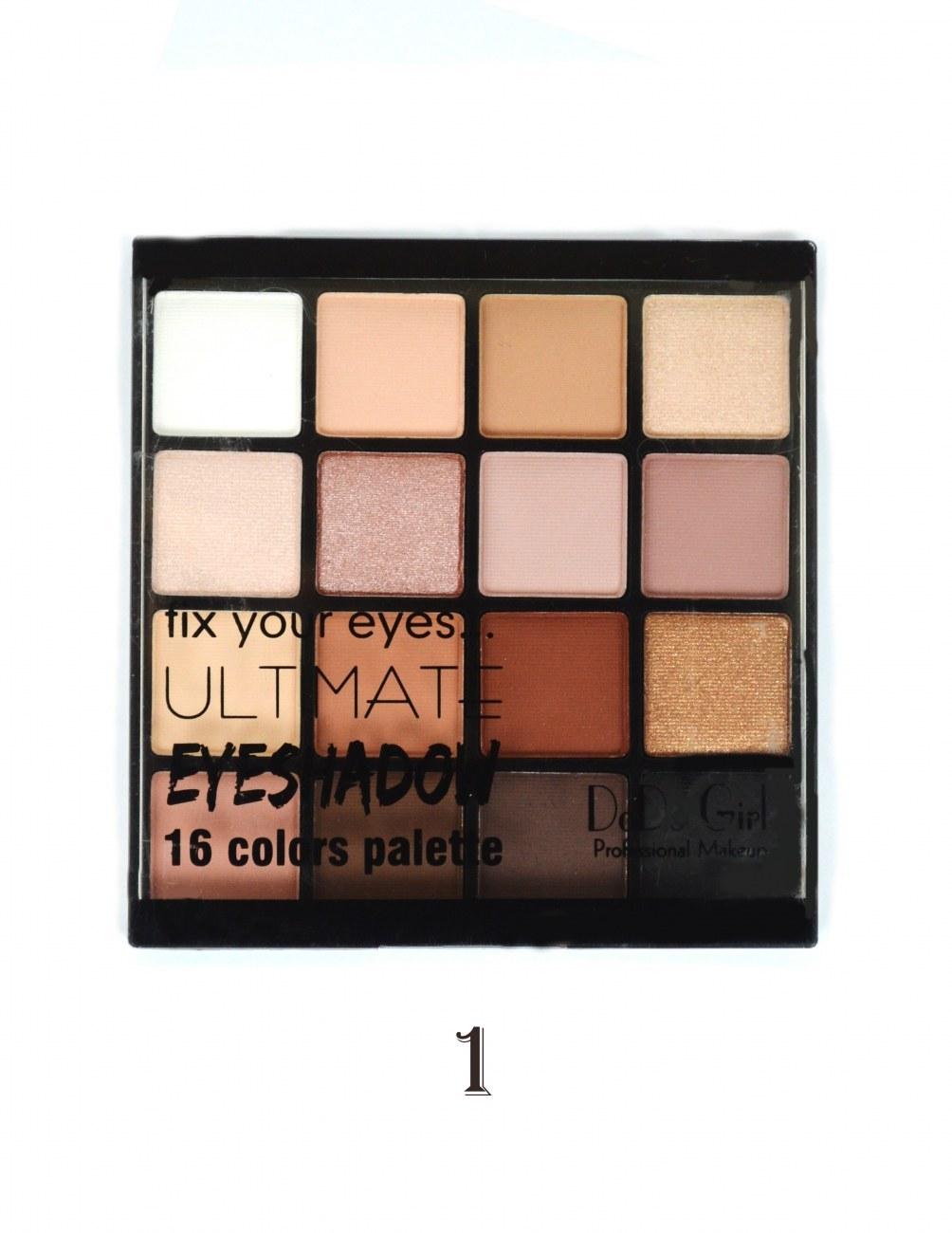 تصویر پالت سایه چشم 16 رنگ دودوگرل مدل 03 Ultimate