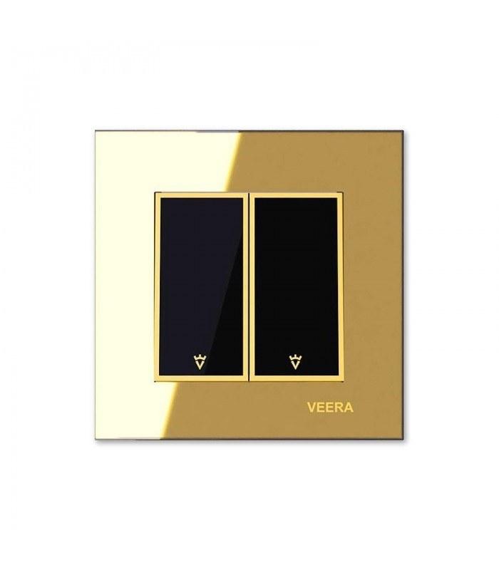 تصویر کلید و پریز ویرا الکتریک مدل امگا طلایی