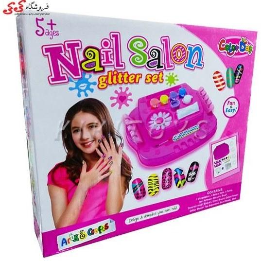 تصویر ست طراحی ناخن اسباب بازی -Nail Salon Glitter Set