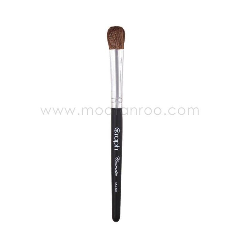 قلم موی آرایشی زبان گربه ای با موی طبیعی مناسب سایه زنی گراف سایز کوچک