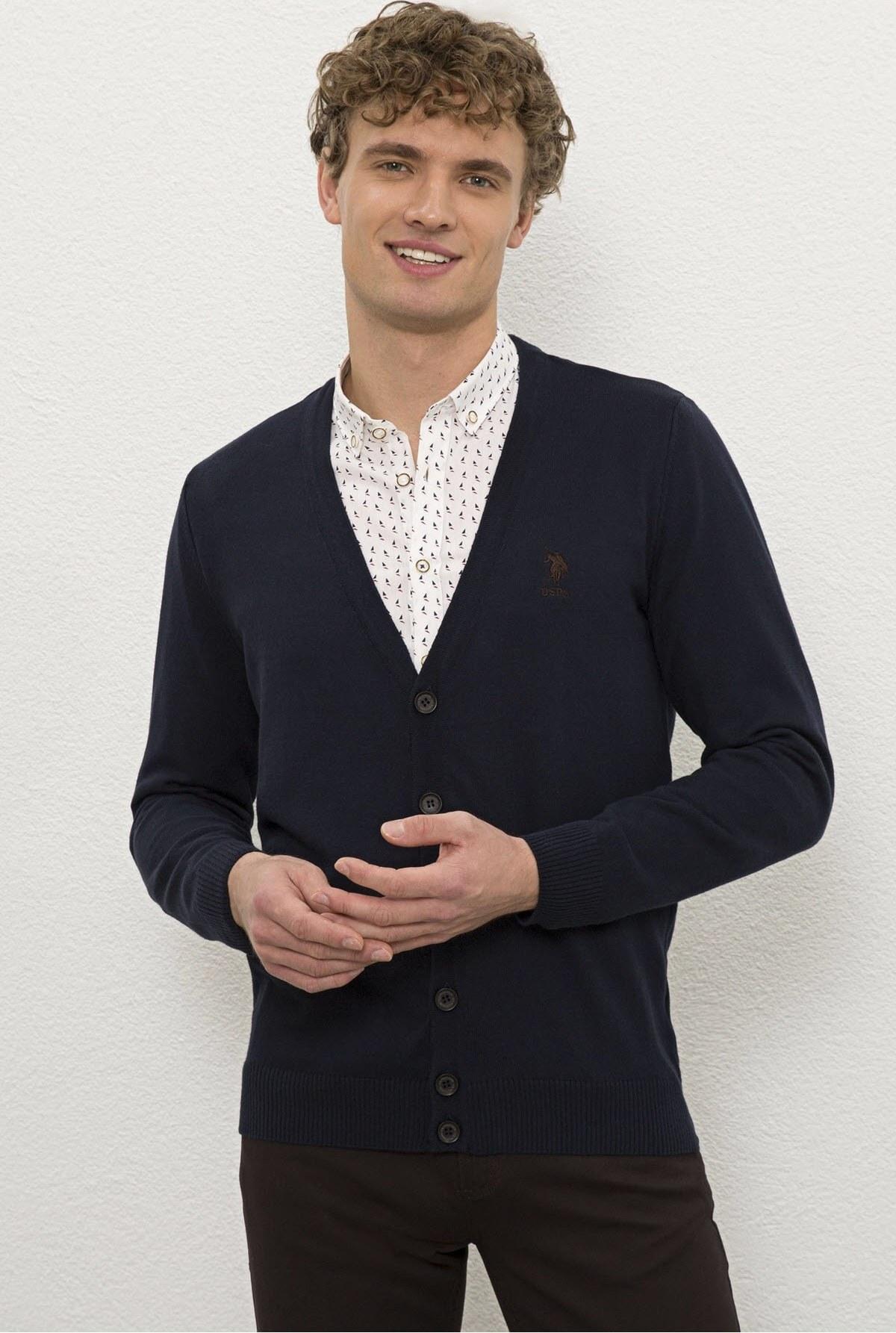 تصویر خرید انلاین هودی زیبا مردانه برند U.S. Polo Assn. رنگ لاجوردی کد ty60659777