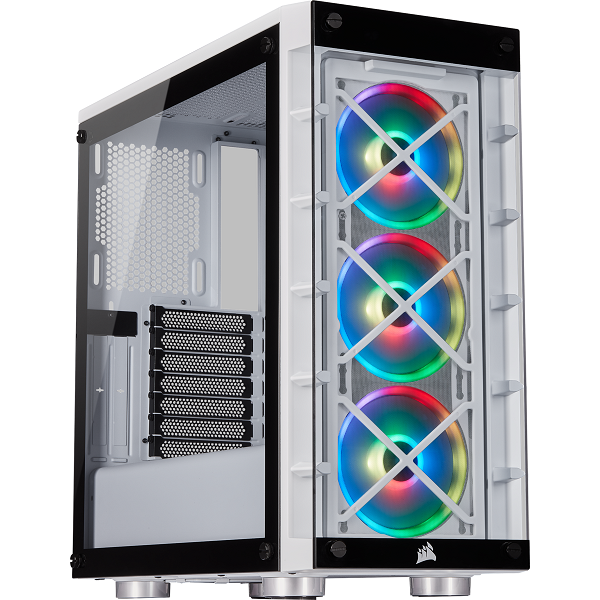 Corsair iCUE 465X RGB Mid-Tower ATX Smart Case – White