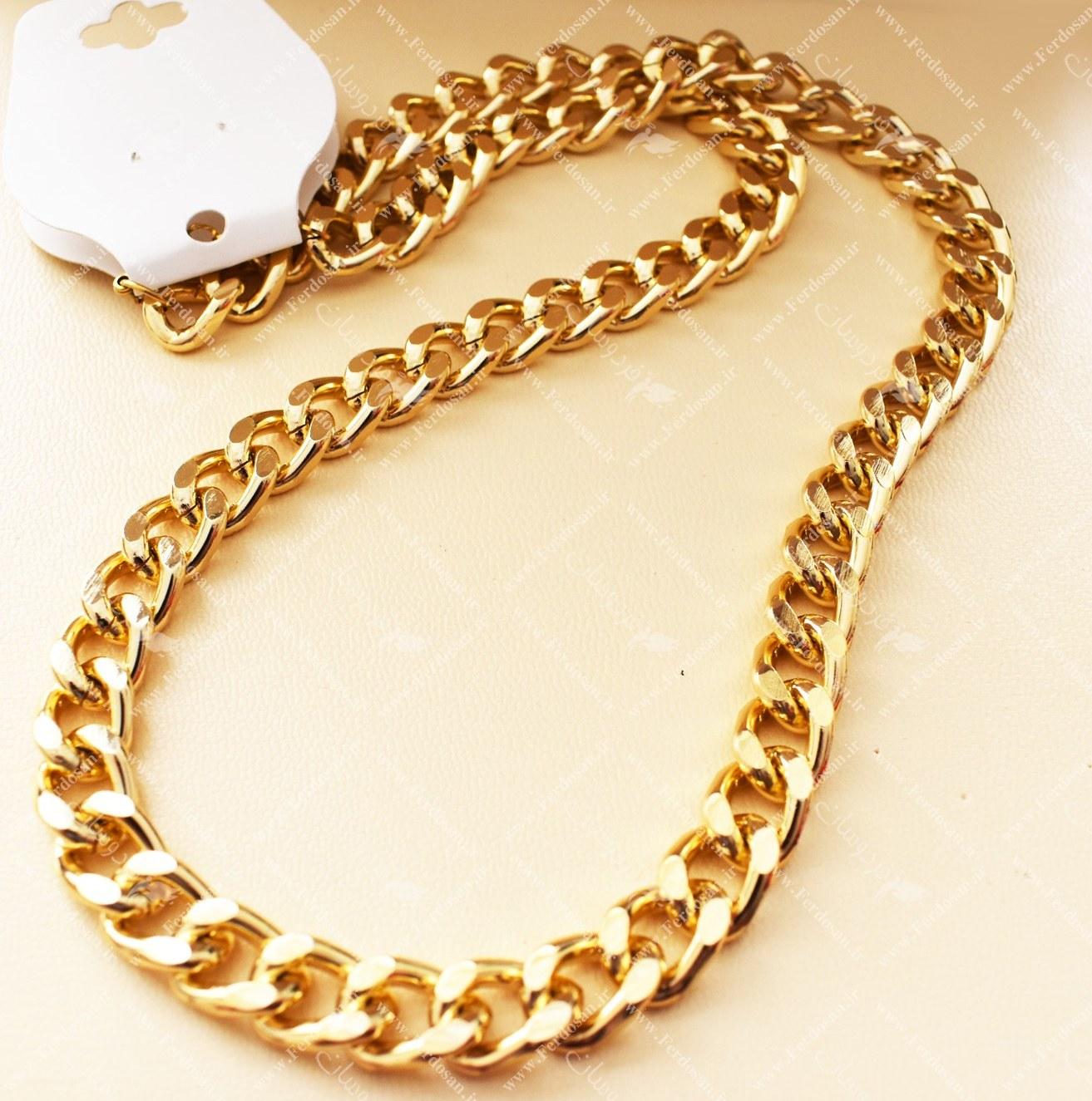 تصویر گردنبند آلمینیوم زنجیری طرح طلا 01