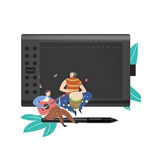 image قلم نوری GAOMON Digital Drawing Graphics Tablet  10 x 6 inch + Battery-Free مدل M106K PRO