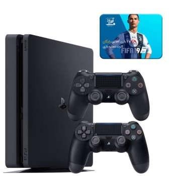 تصویر مجموعه کنسول بازی سونی مدل Playstation 4 Slim ریجن 2 کد CUH-2216B ظرفیت 1 ترابایت به همراه 20 عدد بازی