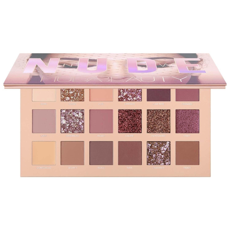 تصویر پالت سایه هدا بیوتی مدل نود Nude ا Huda Beauty Nude Eyeshadow Palette 18 Shades Huda Beauty Nude Eyeshadow Palette 18 Shades