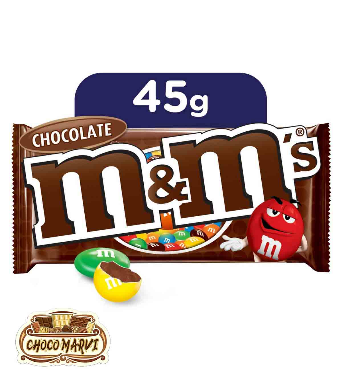تصویر دراژه شکلاتی ام اند امز M&MS با مغز شکلات ۴۵ گرمی