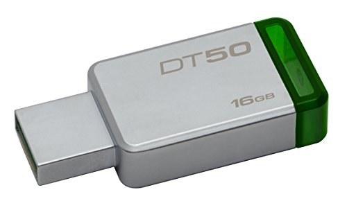 تصویر Kingston Digital 16GB USB 3.0 مسافر داده 50 ، خواندن 30 مگابایت در ثانیه ، نوشتن 5 مگابایت در ثانیه (DT50 / 16GB)