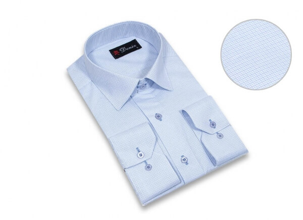 پیراهن مردانه سایز بزرگ دنیز Deniz کد 508 رنگ آبی چهارخانه