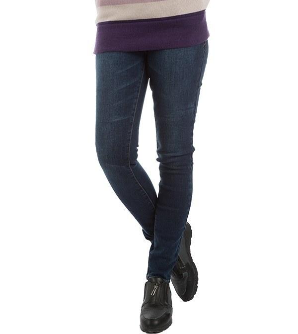 شلوار زنانه جین جذب سرمه ای جین وست Jeanswest