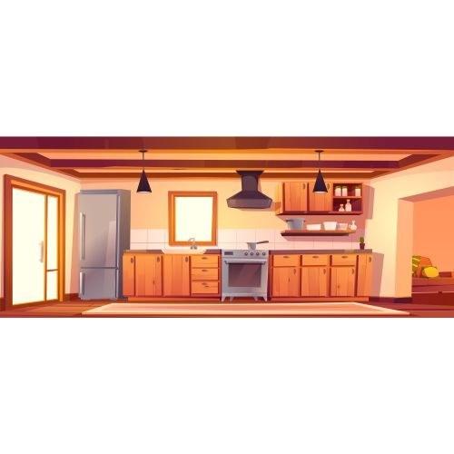 تصویر وکتور کابینت و آشپزخانه