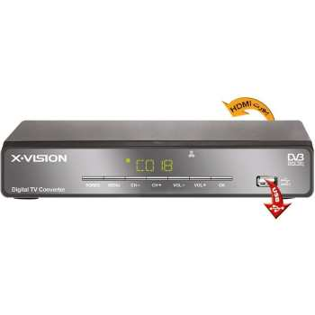 تصویر گیرنده دیجیتال ایکس ویژن مدل XDVB-373 X.Vision XDVB 373 Set Top Box