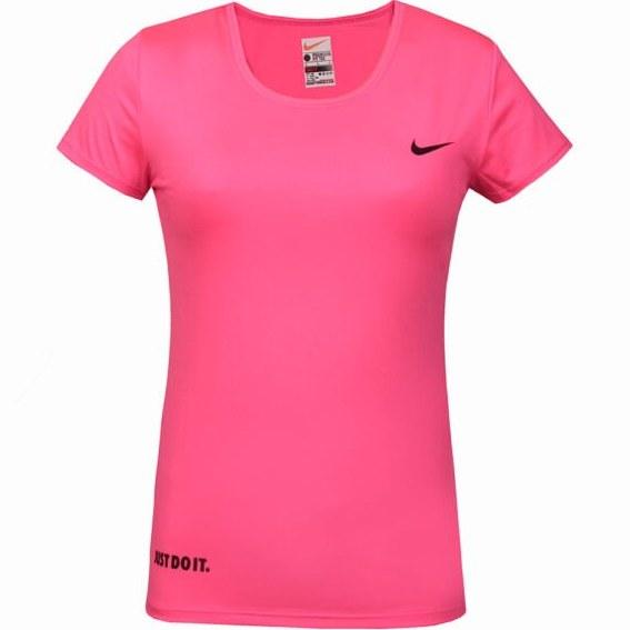 تصویر تیشرت زنانه آستین کوتاه ورزشی  طرح نایک