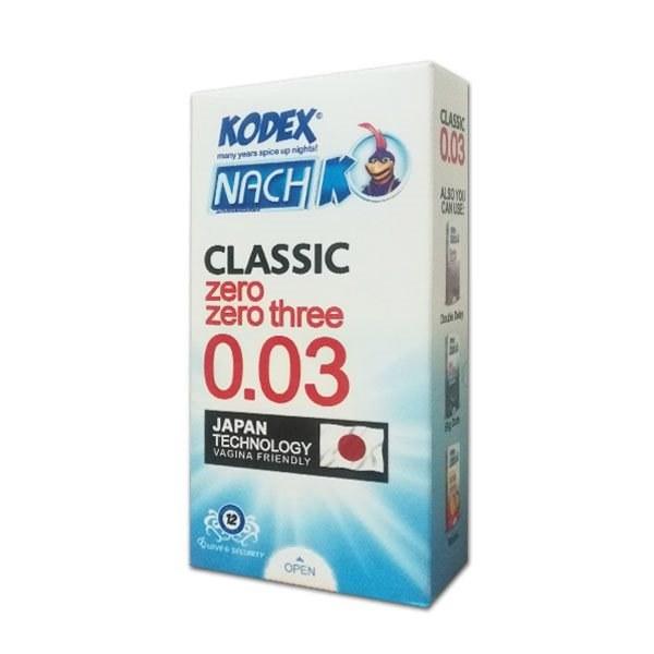 main images کاندوم فوق العاده نازک مدل 30 میکرون کدکس 12 عددی Kodex Classic Zero Zero three 0.03 12PCS