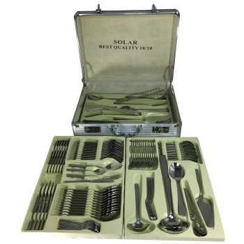 MGS Solar 18/10 Cutlery Set 128 Pcs | سرویس قاشق و چنگال 128 پارچه ام جی اس مدل  Solar 18/10