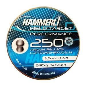 تصویر ساچمه تفنگ بادی همرلی فیلدتارگت پرفورمنس 5.5|250|14.66 | Hammerli Field Target Performance