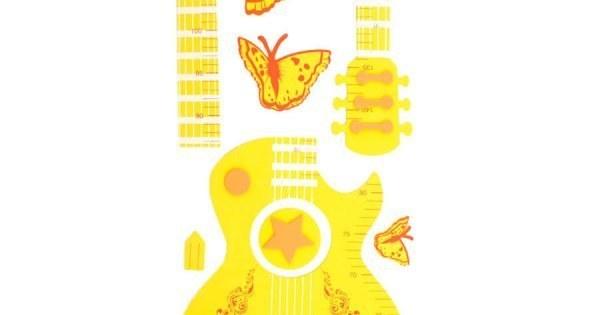 عکس استیکر چارت قد اتاق نوزاد طرح گیتار  استیکر-چارت-قد-اتاق-نوزاد-طرح-گیتار